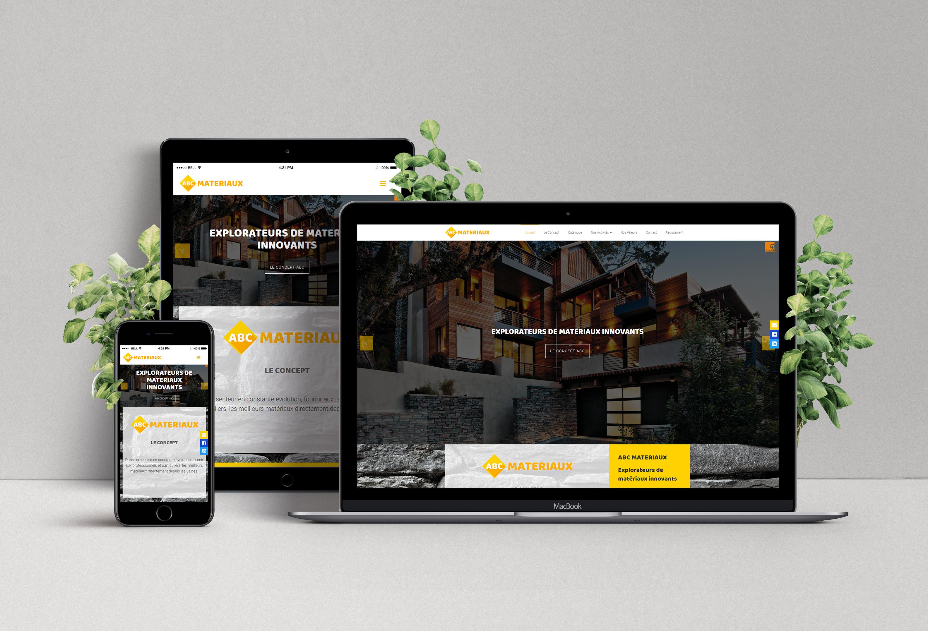 Site Web Construction Abc Materiaux Atj Graphics