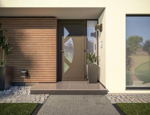 [Vue extérieure] Porte entrée – Catalogue 3D – ISOROL