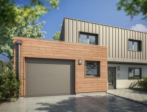 [Vue extérieure] Porte garage – Catalogue 3D – ISOROL