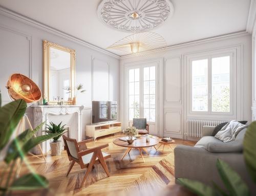 [Vue intérieure] Salon Haussmann – Catalogue 3D – ISOROL